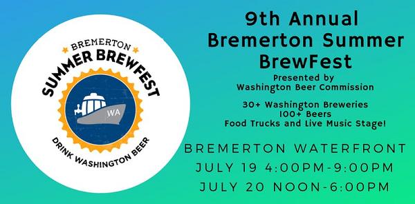 Bremerton Summer Brewfest July 19-20
