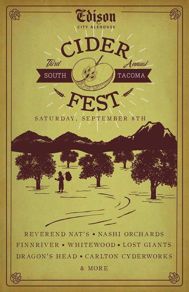 Edison City Alehouse– 3rd Annual Cider Fest (Sept 8)