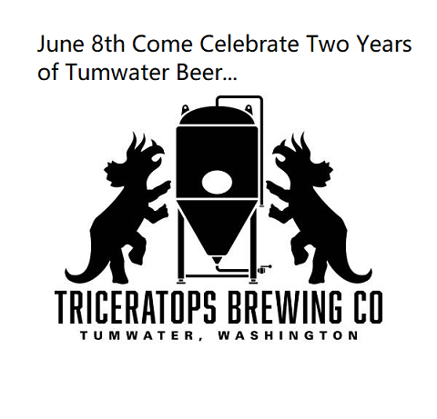 Triceratops Brewing – Celebrates 2 Years (June 8)
