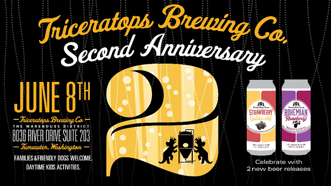 Triceratops Brewing – 2nd Anniversary (June 8)