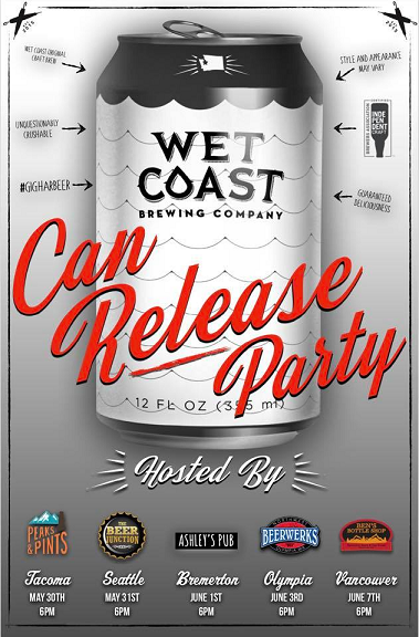 Wet Coast Brewing – Can Release Party